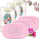 Pack 3x100g Seife Un Air d'Antan/Parfüm: Kirschblüten/Bio-Arganöl &...