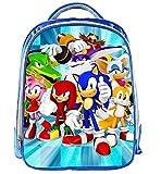 Mdsfe Mochila Mario de 13 Pulgadas Mochilas Sonic de Dibujos Animados para niños Mochilas Escolares para niños Mochila Diaria para jardín de Infantes Mochila para niños - 1 Pieza 013