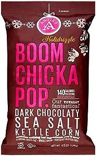 Angie's Boom Chicka Pop Holidrizzle Kettle Corn Holiday Dark Chocolate Sea Salt ONE 4.5 oz.Bag