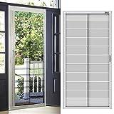 Custom Cut to Size,[ Grey,Folding, W 40 xH 83 (inch)], Aluminum Retractable Front Screen Door net,Fiberglass mesh with alumium, Mosquito Screens I Bug Net for Doors