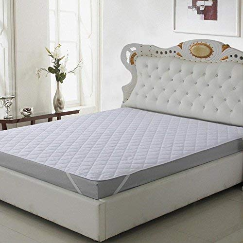 Renown Mattress Protector Micro Fiber Waterproof & Dustproof King Size 72 X 78 Inch I I 3 Layered Protector/Bed Cover White Cotton Finish Quilted