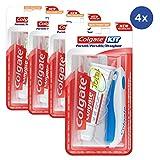 Conjunto de 4 Kits de viaje Pasta de dientes Colagte + cepillo de dientes suave - formato de avión