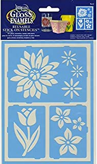 DecoArt Self-Adhesive Glass Series Americana Stencils, 6 by 8-Inch, Floral Breeze
