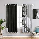 Weilan1999 Marilyn-Monroe - Cortinas de chid personalizadas para sala de estar y ventana de tela de 106 x 45 pulgadas, poliéster y mezcla de poliéster, Patrón_09, W42 x L72 Inch