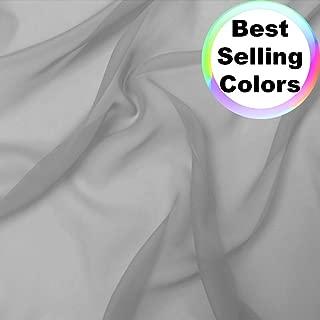 gray chiffon fabric