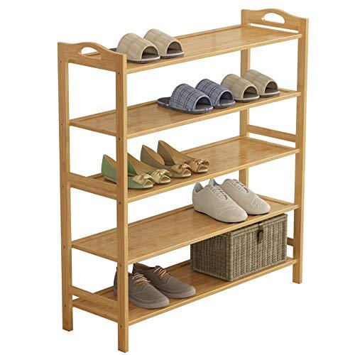 ZAIHW Zapatero Material de bambú Multicapa A Prueba de Polvo Multiuso Gabinete de Zapatos para el hogar Montaje económico (Tamaño: 80 * 26 * 90 cm)