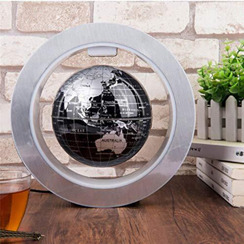 LED-schwebender Globus Magnetschwebebahn Nachtlicht Anti-Schwerkraft Dekoration Lampe Kinder Geschenk Weltkarte,Schwarz