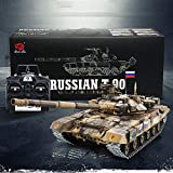 Weaston 26in Large Army Rc Tank 1:16 Russia Main Battle T90 Tank 2.4G Electric Rc Tank Army RC Tank Metal Tracks Steel Gearbox For Adult Boys Xmas Gift
