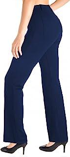 Yogipace, Belt Loops, Women's Petite/Regular/Tall Dress Pant Bootcut Yoga Work Pants Slacks Trousers Back Pockets Office C...