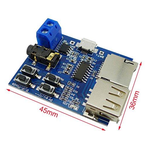 『KKHMF TFカード Uディスク Mp3デコーダ モジュール デコーダボード 無損失デコード 増幅器』のトップ画像