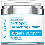 Si Doux Dark Spot Corrector and Remover – for use on face, body, or sensitive intimate areas - Underarm Cream with Hyaluronic Acid and Niacinamide