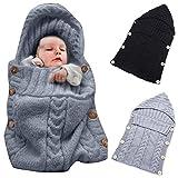 Neugeborenes Babydecke Wrap Swaddle Decke, SOONHUA Baby Kinder Kleinkind Wolle Knit Decke Swaddle Schlafsack Schlaf Sack Stroller Wrap für 0 12 Monate Baby (Grey)