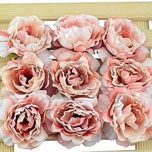 30pcs 4cm Artificial Silk Rose Flowers Heads European Fall Vivid Cheap Carnation Fake Wedding Home Decoration Fake Flower