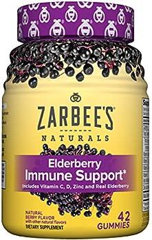 42-Count Zarbee's Naturals Adult Elderberry Immune Support