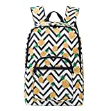 Pineapple Backpack for Girls for School Lightweight Canvas College Bookbags for Women Travel Rucksack