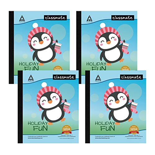Classmate Notebook - Single Line, 172 Pages, 190 mm x 155 mm - Pack Of 4