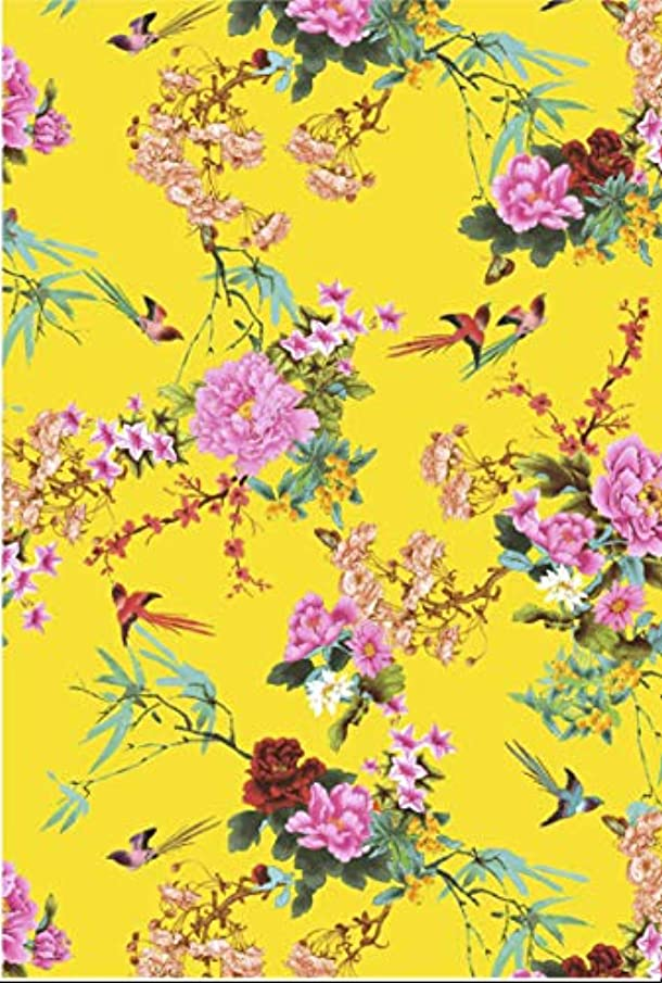 Decopatch FDA750O 395 x 298mm Number 750 Yellow Bird and Flowers Pack of 20 Sheets