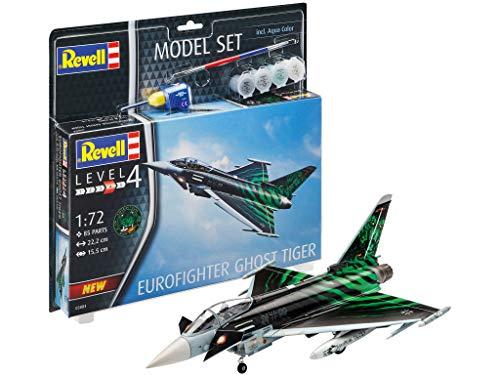 Revell REV-63884 Model Set Eurofighter Ghost Tiger Modellbausatz + Zubehör, Mehrfarbig, 1/24