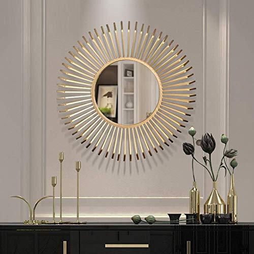 Cakunmik Grande Vintage Sol Espejo decoración, Sala de Estar Fondo decoración de Pared Colgante solbandrist Espejo Starburst único Decorativo Decorativo Redondo decoración