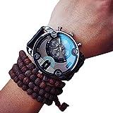 YiGo Herren Quarz Analog Armbanduhr, schwarz, 51mm