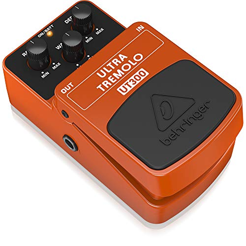 Behringer UT300, Pedal de efecto vibrato para guitarra, color naranja, ULTRA TREMOLO UT300, Guitar Pedal