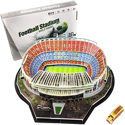 hsj WDX- 3D Puzzle Camp NOU Camp Football Stadium DIY Modell Set trainieren