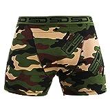 Smuggling Duds Men's Stash Boxer Brief Shorts - Pickpocket Proof Travel Secret Pocket Underwear Jungle-Camo Extra Large