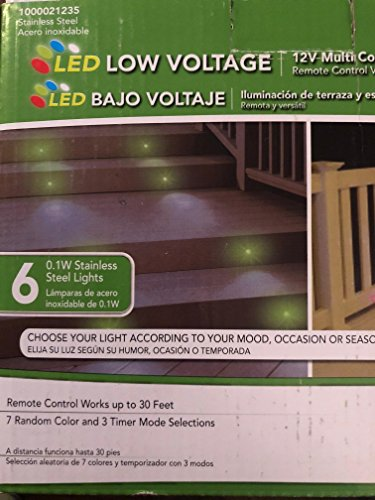 Paradise Stainless Steel Multi Color LED Deck Light Kit (6-Pack)