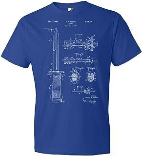 Rifle Bayonet T-Shirt, Military Apparel, Soldier Gift, Knife Blueprint