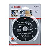 Bosch Professional 2608623012 Tungsten Carbide Multi Wheel Cutting Disc (Multi Material, Ø 115 mm, angle grinder accessories) , Black