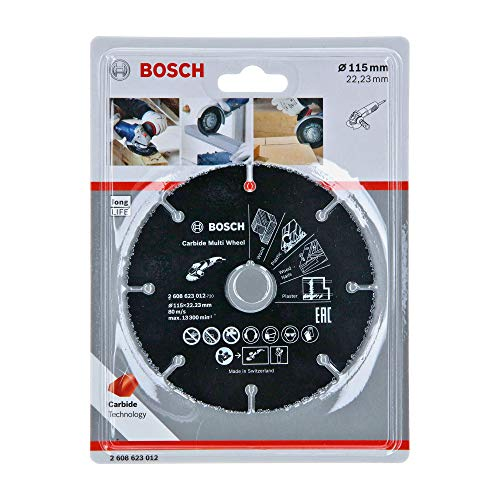 Bosch Professional Mola da Taglio Carbide Multi Wheel, Multi Material, Diametro 115 mm, Accessorio per Smerigliatrice Angolare