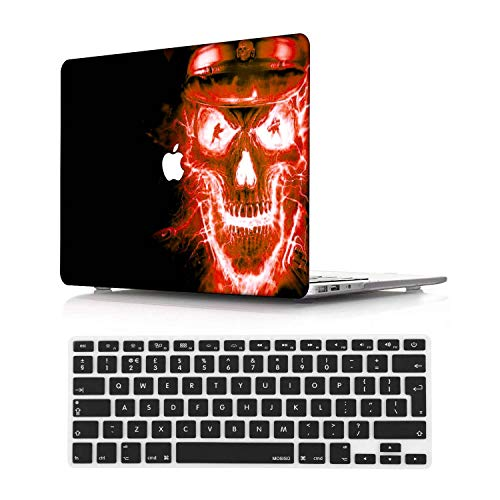 NEWCENT New MacBook Pro 13' Case,Plastic Ultra Slim Light Hard Case UK Keyboard Cover for Mac Pro 13 with/Without Touch Bar 2019 2018 2017 2016 Release(Model:A2159/A1989/A1706/A1708),Diablo 38
