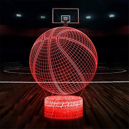 Baloncesto 3D llevó lámparas de ilusión óptica luz de noche USB carga para decoración del hogar juguetes frescos regalos cumpleaños Navidad niños lámpara