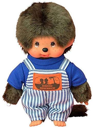 Monchhichi Monchichi Puppe Boy mit gestreifter Latzhose 20 cm