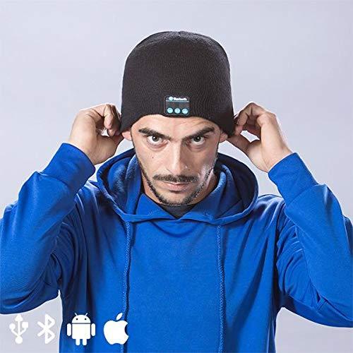 BigBuy Gadget 145364 sportmuts met Bluetooth, zwart, unisex, volwassenen, eenheidsmaat