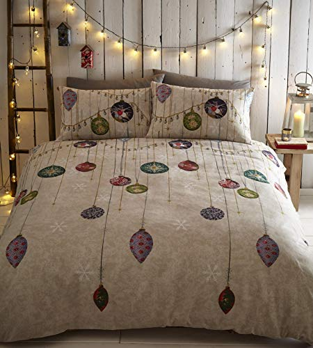 Portfolio Vintage Christmas Duvet Cover Set Festive Bedding Quilt Cover King