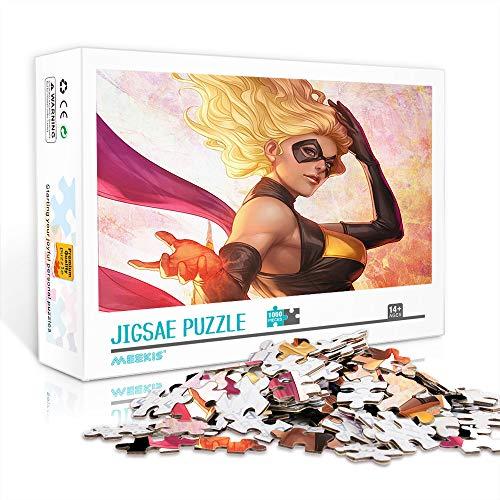 DUANGONGZI Puzzles imposibles 500 Piezas Sra. Marvel Rompecabezas Juego Desafiante y Educativo Rompecabezas Juegos Juguetes 52x38cm