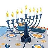 Lovepop Menorah Lights Pop Up Card, 5x7-3D Greeting Card, Jewish Holiday Cards, Hanukkah Greeting Cards, Chanukah Cards with Envelopes