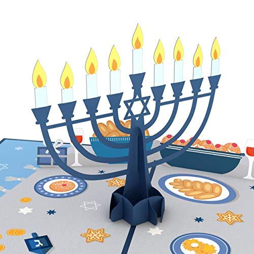 Lovepop Menorah Lights Pop Up Card - 3D Cards, Hanukkah Pop Up Card, Happy Hanukkah Card, Holiday Pop Up Cards