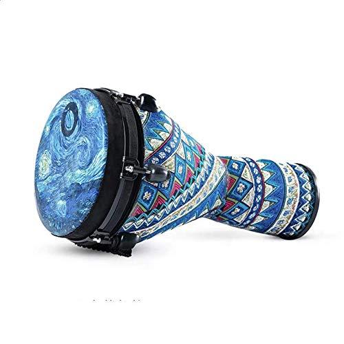 Composite Carbon Percussion Djembe - Einstellbarer Ton Professionelle Premium Qualität Heavy Base10-Inch Djembe, für Kinder und Erwachsene