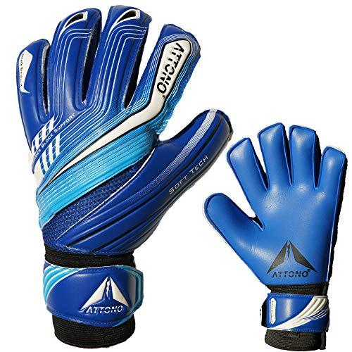 ATTONO Torwarthandschuhe Attack Breaker II Fingersave Torwart Handschuhe - Größe 7