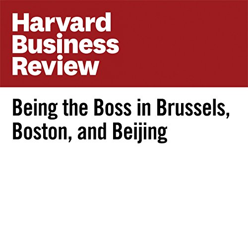 Being the Boss in Brussels, Boston, and Beijing cover art