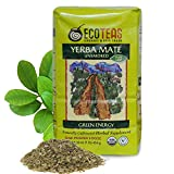 ECOTEAS - Organic Unsmoked Yerba Mate Tea - Pure Loose Leaf Tea - 1Lb - Organic Detox Tea - Yerba Mate Loose Leaf - Hi Caf Tea - Energy Tea Loose Leaf