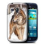 Stuff4 Coque de Coque pour Samsung Galaxy S3 Mini/Loup Design/Animaux Sauvages...