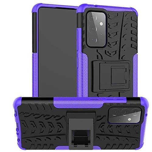 La funda de teléfono QIWANG es compatible con Samsung S9 plus/M30/A52, carcasa de silicona TPU de doble capa con soporte, carcasa rígida de policarbonato.