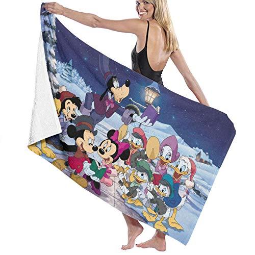 Toalla de baño de Mickey Minnie de dibujos animados, muy suave, de secado rápido y muy absorbente, de calidad, 32 x 52 pulgadas, toallas de baño, accesorios de toalla de piscina.