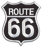 americans Highway Parche termoadhesivo para Planchar de la Ruta 66 Lilie Crea 11,3 cm Biker Moto