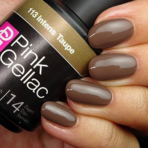 Pink Gellac Gel-Nagellack, 15ml, Farbton: Taupe