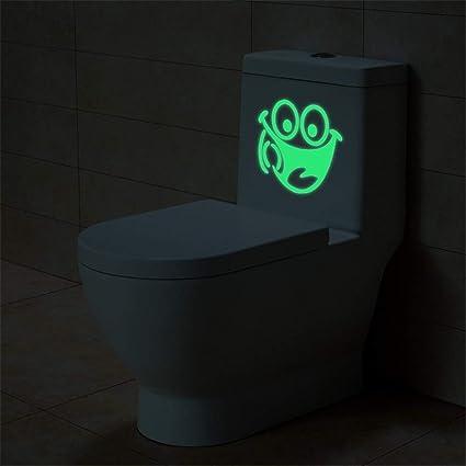 Leuchtende Toilettenaufkleber Fluoreszierende Wandaufkleber Badezimmer Dekor