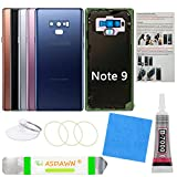 Galaxy Note 9 Back Glass Cover Replacement Case w/Pre-Installed Camera Lens+All The Adhesive+Installation Manual+Tools for Samsung Galaxy Note 9 SM-N960 All Carriers (Ocean Blue)